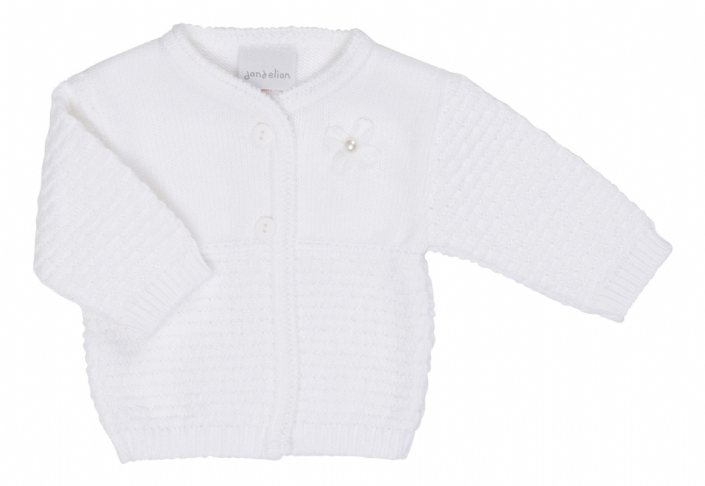 A1963 baby girls knitted matinee Cardigan (W)